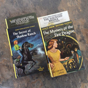 Vintage Nancy Drew Mysteries by Carolyn Keene